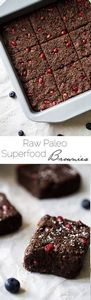 Superfood Raw Paleo Brownies - Mad - 230 Chocolate Dessert Recipes - RecipePin.com