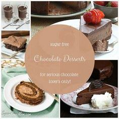 21 Sugar Free Chocolate Desserts f - 230 Chocolate Dessert Recipes - RecipePin.com