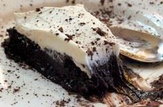 slice of french silk pie| lowcarb- - 230 Chocolate Dessert Recipes - RecipePin.com