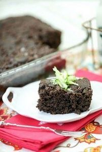 Lightened Chocolate Zucchini Cake  - 230 Chocolate Dessert Recipes - RecipePin.com