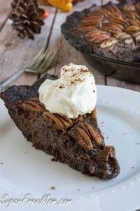 Low Sugar Low Carb Chocolate Pecan - 230 Chocolate Dessert Recipes - RecipePin.com