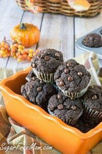 Mini Chocolate Pumpkin Cupcakes #s - 230 Chocolate Dessert Recipes - RecipePin.com