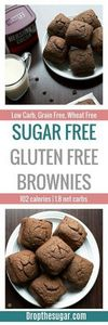 Sugar Free Gluten Free Brownies |  - 230 Chocolate Dessert Recipes - RecipePin.com