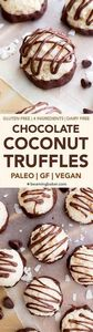 Paleo Vegan Chocolate Coconut Truf - 230 Chocolate Dessert Recipes - RecipePin.com