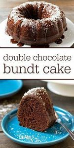 This double chocolate bundt cake i - 230 Chocolate Dessert Recipes - RecipePin.com