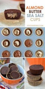 Almond Butter Sea Salt Cups via Fi - 230 Chocolate Dessert Recipes - RecipePin.com
