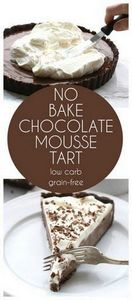 Low Carb Keto Chocolate Mousse Tar - 230 Chocolate Dessert Recipes - RecipePin.com