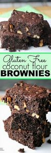 Coconut Flour Brownies | by Renee' - 230 Chocolate Dessert Recipes - RecipePin.com
