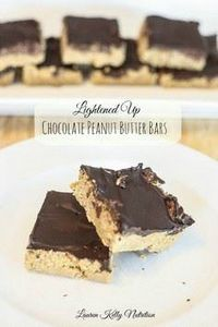 Chocolate Peanut Butter Bars #noba - 230 Chocolate Dessert Recipes - RecipePin.com