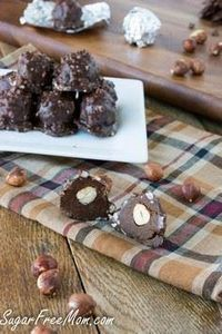 #Sugarfree Copycat Ferrero Rocher  - 230 Chocolate Dessert Recipes - RecipePin.com