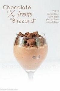 Healthy Mock Chocolate Xtreme DQ  Blizzard  (THM:S, Low carb, Sugar free, Gluten and Peanut free) - 230 Chocolate Dessert Recipes - RecipePin.com