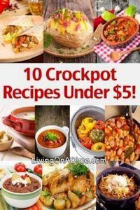 10 Crockpot Recipes Under $5 - 285 Crock Pot Recipes - RecipePin.com