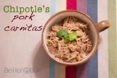 Chipotle's Pork Carnitas Copycat R - 285 Crock Pot Recipes - RecipePin.com