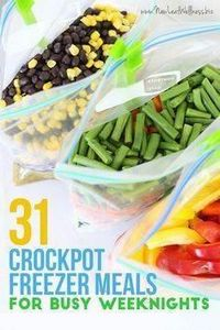31 Crockpot Freezer Meals for Busy - 285 Crock Pot Recipes - RecipePin.com