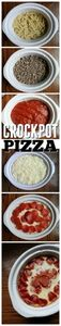 Crockpot Pizza recipe!  It's so ea - 285 Crock Pot Recipes - RecipePin.com