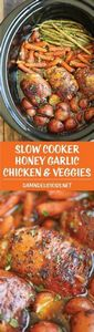 Slow Cooker Honey Garlic Chicken a - 285 Crock Pot Recipes - RecipePin.com