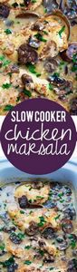 Slow Cooker Chicken Marsala | Crem - 285 Crock Pot Recipes - RecipePin.com