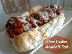 Slow Cooker Meatball Subs #recipe  - 285 Crock Pot Recipes - RecipePin.com