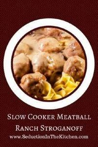 Slow Cooker Meatball Ranch Strogan - 285 Crock Pot Recipes - RecipePin.com