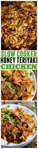 Slow Cooker Honey Teriyaki Chicken - 285 Crock Pot Recipes - RecipePin.com