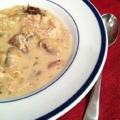 Creamy Chicken and Mushroom Stew - 285 Crock Pot Recipes - RecipePin.com