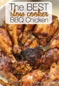 The BEST slow cooker BBQ chicken r - 285 Crock Pot Recipes - RecipePin.com