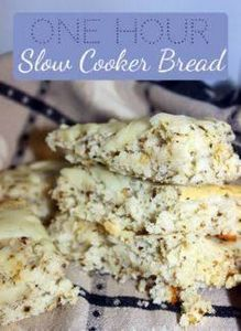 1 hour  Slow Cooker Bread #Recipe - 285 Crock Pot Recipes - RecipePin.com
