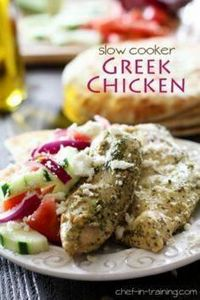 Slow Cooker Greek Chicken from che - 285 Crock Pot Recipes - RecipePin.com