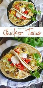 Crock Pot Chicken Tacos : Easy Fam - 285 Crock Pot Recipes - RecipePin.com