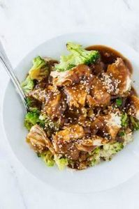 Slow cooker sesame garlic chicken  - 285 Crock Pot Recipes - RecipePin.com