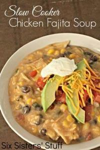 Slow Cooker Creamy Chicken Fajita  - 285 Crock Pot Recipes - RecipePin.com