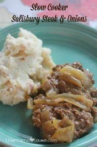 Slow cooker salisbury steak and on - 285 Crock Pot Recipes - RecipePin.com