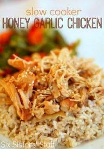 Slow Cooker Honey Garlic Chicken R - 285 Crock Pot Recipes - RecipePin.com