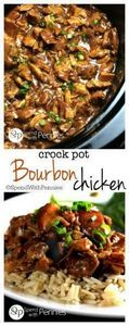 This delicious Bourbon Chicken rec - 285 Crock Pot Recipes - RecipePin.com