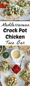 Mediterranean Crock Pot Chicken Ta - 285 Crock Pot Recipes - RecipePin.com