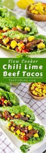 Slow Cooker Chili Lime Beef Tacos  - 285 Crock Pot Recipes - RecipePin.com