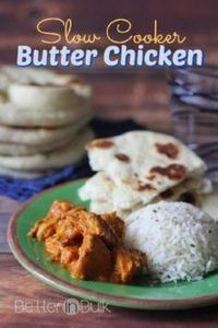 Slow Cooker Butter Chicken #crockp - 285 Crock Pot Recipes - RecipePin.com
