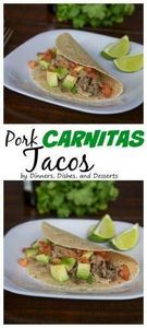 Slow Cooker Pork Carnitas Tacos –  - 285 Crock Pot Recipes - RecipePin.com