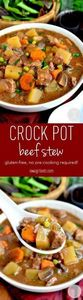 Crock Pot Beef Stew is easy, heart - 285 Crock Pot Recipes - RecipePin.com