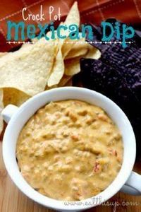 Crock Pot Mexican Cheese Dip - 285 Crock Pot Recipes - RecipePin.com