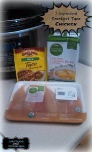 3 Ingredient Crockpot Taco Chicken - 285 Crock Pot Recipes - RecipePin.com