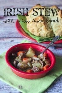 Irish Stew with Irish Soda Bread { - 285 Crock Pot Recipes - RecipePin.com