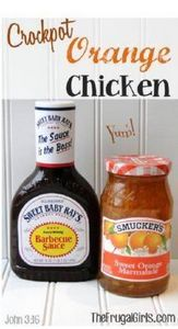 Crockpot Orange Chicken Recipe! ~  - 285 Crock Pot Recipes - RecipePin.com