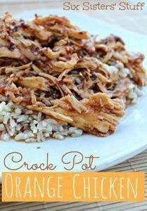 Crock Pot Orange Chicken from Six  - 285 Crock Pot Recipes - RecipePin.com