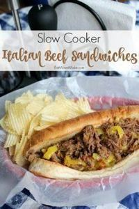 Slow Cooker Italian Beef Sandwiche - 285 Crock Pot Recipes - RecipePin.com