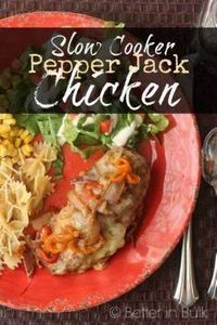 Slow Cooker Pepper Jack Chicken re - 285 Crock Pot Recipes - RecipePin.com