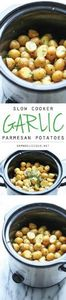 Slow Cooker Garlic Parmesan Potato - 285 Crock Pot Recipes - RecipePin.com