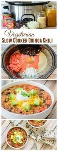 Thick and Hearty Vegetarian Slow C - 285 Crock Pot Recipes - RecipePin.com