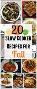 20 slow cooker recipes for Fall - 285 Crock Pot Recipes - RecipePin.com