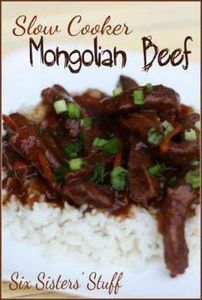 Slow Cooker Mongolian Beef- this p - 285 Crock Pot Recipes - RecipePin.com